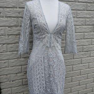 Free People gray lace dress